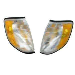 Set of 2 Mercedes W140 S320 Front Turn Signal Assembly - Headlight 1408260843