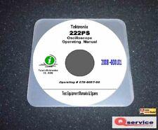 Tektronix 222PS Digital Oscilloscope Operating + RS232 Interfacing Manuals CD