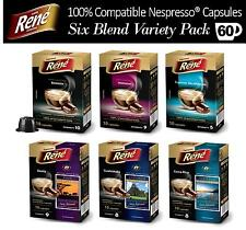 60x Nespresso Compatible Coffee Capsules Pods Six Favourite Blends Variety Pack