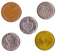 5 DIFFERENT COINS PICKED FROM 5 ISLAND COUNTRIES. EVERY LOT MAY BE DIFFERENT