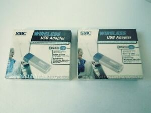 2 SMC smcwusb-g 802.ll b/g EZ Connect 2.4 ghz Wireless Adapter New Sealed