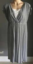 MILLERS Blue & White Stripe Sleeveless Casual Midi Dress Size 16 - Pre-owned