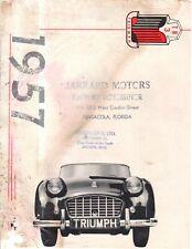 1957 Triumph TR-3 Sales Brochure