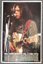 Neil Young Archives Vol. 1 2009 PROMO POSTER