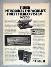 Fisher ACS1590 Audio Component Stereo System PRINT AD - 1978 ~speakers, receiver