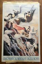 "UNCANNY X-MEN #1 Alex Ross SIGNED Poster Art 22""x34"" Marvel Limited Edition RARE"