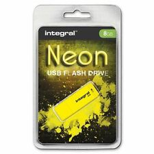 Integral 8GB Neon USB Flash Drive in Yellow, GADGET SHOW AWARD WINNER