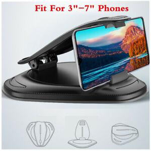 Car Dash Phone Mount Holder Clip Anti-Slip Bracket For 3in-7in Cell Phones GPS