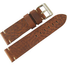22mm ColaReb Siena SHORT Brown Distressed Leather Made in Italy Watch Band Strap