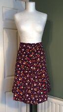 Vintage 1970s Homemade Corduroy Flower Power Skirt 8