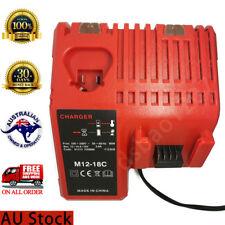 Milwaukee M12 M18 Lithium ion C18BX Rapid Battery Charger C12C C1418C M1218C -AU
