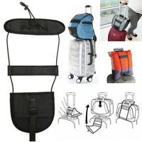 Hot Add A Bag Strap Travel Luggage Suitcase Adjustable Belt Carry On Bungee Easy