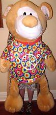"""Licensed 63"""" Groovy Tye Die Peace Teddy Bear Animal Pal Cuddle Plush-Brand New!"""