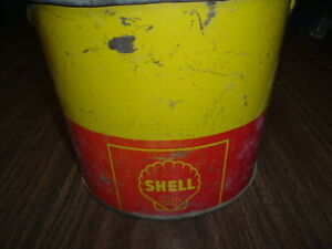 antique shell  grease can in good used condition 10 pound can