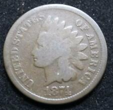 1874 Indian Head * Clear  Date * Great for a Book *