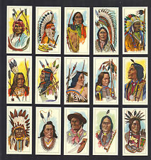 CIGARETTE/TRADE/CARDS.G.Payne (Tea).AMERICAN INDIAN TRIBES.(Full Set of 25).1962