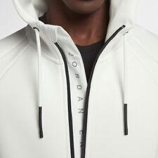 Nike Jordan Flight Tech Fleece Herren Full Zip Kapuzenjacke L Gipfel Weiß Neu