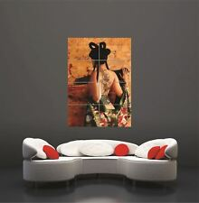 Vector Geisha Japanese Sexy Nude Girl Giant Wall Art Print Picture Poster