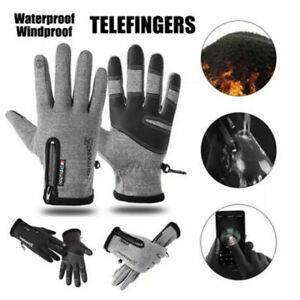 Plus velvet Winter Gloves Waterproof Thermal Touch Screen Thermal Windproof Warm