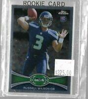 2012 Topps Chrome Russell Wilson rookie card - Seahawks (B)