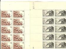 YVERT N°764 + 763 x10 POINTE DU RAZ ET ROC-AMADOUR FRANCE NEUFS sans charnières