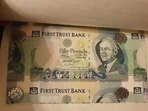 Very RARE SPECIMEN PROOFS £ 50 pounds 2009 P138bs FIRST TRUST BANK printers