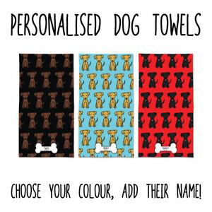 Personalised Labrador Towel Large Dog Beach Towel Yellow Black Chocolate Lab