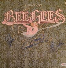 THE BEE GEES Signed MAIN COURSE Vinyl Record Album PSA DNA By All 3 * BARRY GIBB