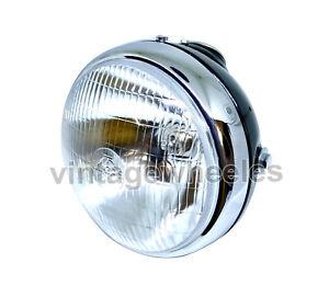 """Lucas 7"""" Headlight Headlamp ssu700 BSA Triumph Norton AJS Matchless Bobber"""