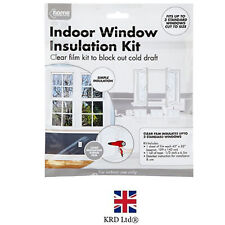 Window Insulation Kit Double Glazing Shrink Films Draught Excluder Condensation
