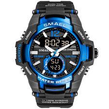 SMAEL Men's Army Military Digital Sport Quartz 50M Waterproof Analog Watches US