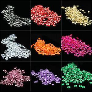 100-10000pcs 8mm Acrylic Crystal Diamond Confetti Weddin Table Scatter Party Dec