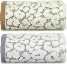 Leopard 100% Cotton Towels Animal Jacquard Bath Hand Towel Sheet Soft Luxury