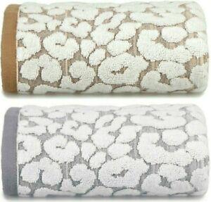 Allure Luxury Soft Leopard Print Bath Towel 100% Cotton Jacquard Bathroom