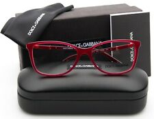 NEW D&G Dolce & Gabbana DG 3219 2681 OPAL RED EYEGLASSES FRAME 55-16-140mm Italy