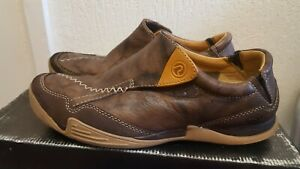 Clarks Privo Men's Brown Leather Casual Shoes Size UK 8G