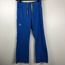WonderWink Scrubs Romeo Pants Small Royal Blue Pockets Drawstring Cargo 5026