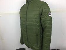 Henleys mens demolition light weight bubble puffer jacket Army green small bnwt