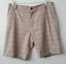 ADIDAS Mens Size 36 / XL Beige Stretch Embroidered Golf Shorts