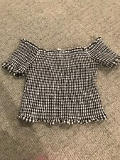 Re:named Off The Shokder Crop Top Small NWT