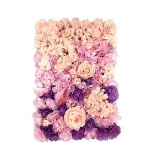 Simulation Silk Flower Wall Panels Wedding Venue Decor Gradien Backdrop