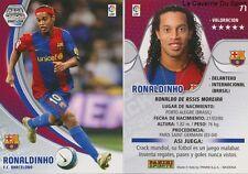 N°071 RONALDINHO # BRAZIL FC.BARCELONA MEGACRACKS CARD PANINI LIGA 2008