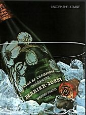 1986 AD CHAMPAGNE PERRIER JOUET  UNCORK THE ULTIMATE