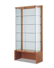Vetrina espositore display showcase vetro cristallo con panca mobile legno
