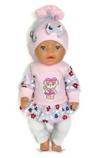 dolls clothes 43cm newborn baby doll or similar (check the measurements) outfit