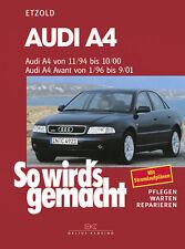 AUDI A4 1994-2000 B5 REPARATURANLEITUNG SO WIRDS GEMACHT 98 WARTUNGSHANDBUCH