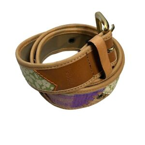 Vintage Fossil Y2K Patchwork Belt womens size Small