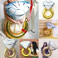 Fashion Diamond Ring Foil Balloon Engagement Wedding Gold Love Hen Party Helium