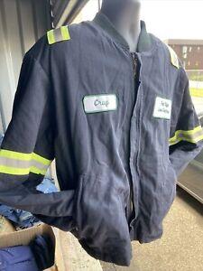 Workrite FR • LARGE RG Flame Resistant Hi-Vis REFLECTIVE Blue Jacket Coat ARC