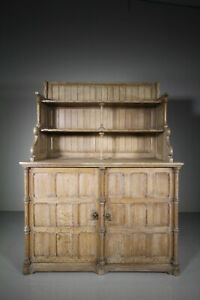 Rare 19th Century Antique Oak Chiffonier by Henry Woodyer